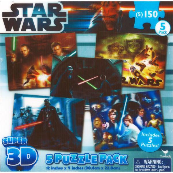 Star Wars Super 3d 5 Assorted Puzzles Merchandise Zavvi