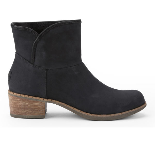 UGG Women's Darling Leather Heeled Ankle Boots - Black