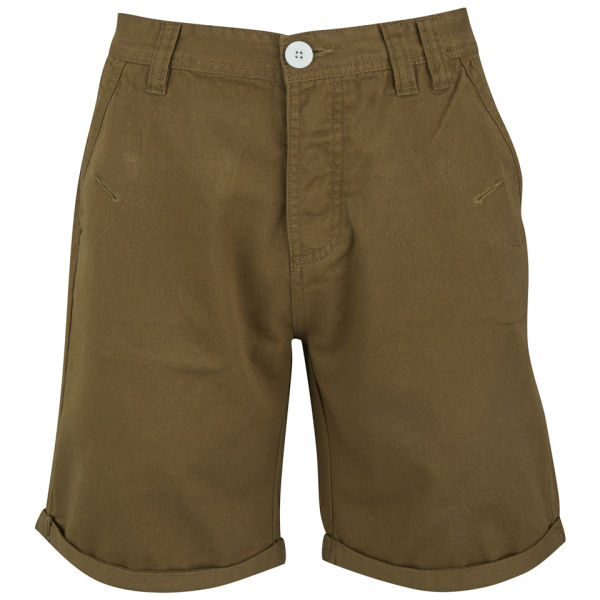 Soul Star Men's Chino Melton Shorts - Tobacco