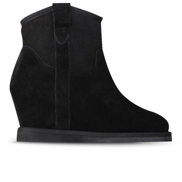 Ash Women's Yahoo Bis Suede Wedged Ankle Boots - Black