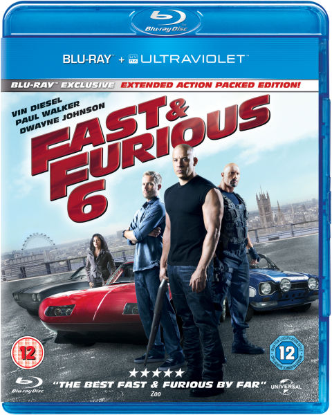fast and furious 6 includes ultraviolet copy blu ray. Black Bedroom Furniture Sets. Home Design Ideas