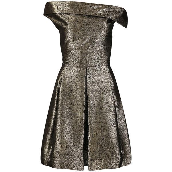 Vivienne Westwood Anglomania Women's Apache Dress - Black/Gold Lurex