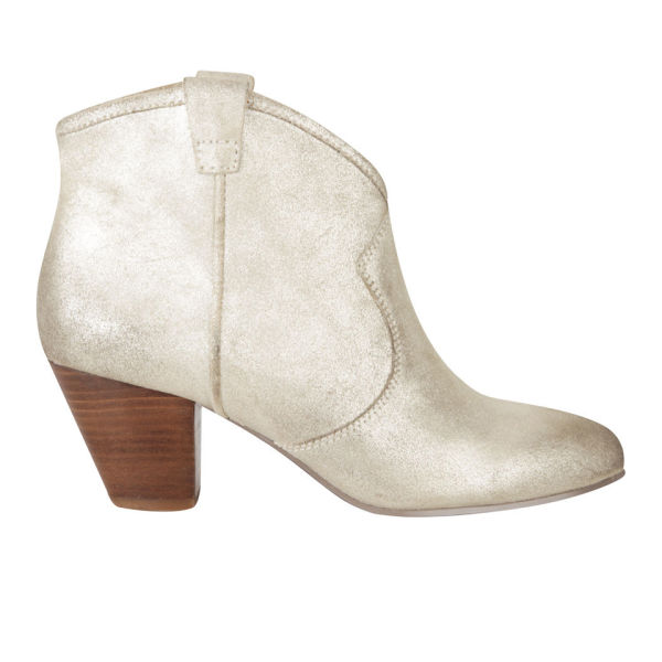 Ash Women's Jalouse Heeled Leather Ankle Boots - Platine