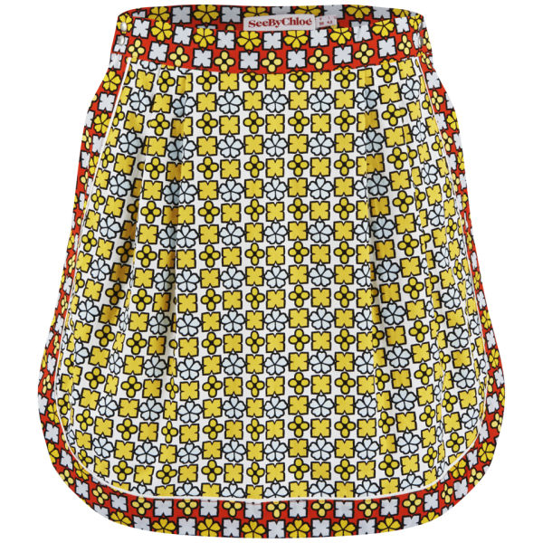 See By Chloé Women's Geometric Flower Printed Skirt - Multi