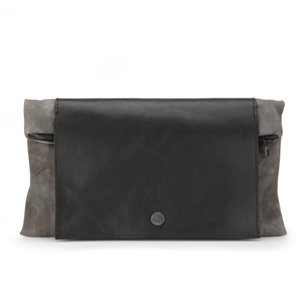 Christopher Raeburn Clutch Bag - Black/Grey - Free UK Delivery ...