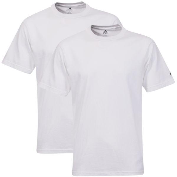 adidas men 39 s 2 pack plain t shirts white sports