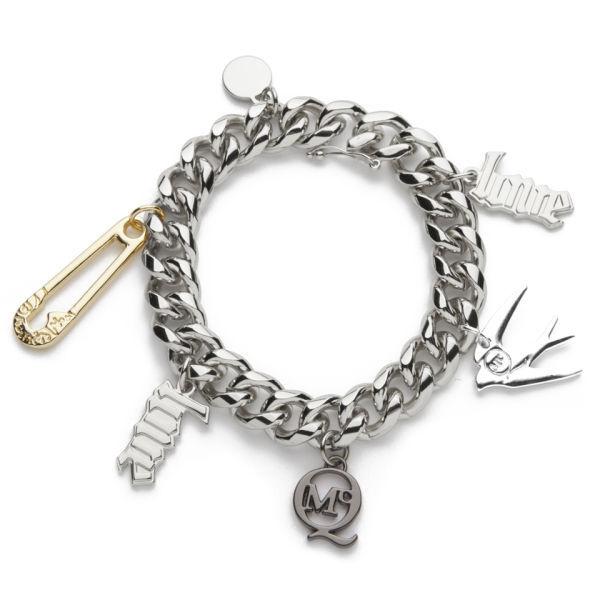 McQ Alexander McQueen Charm Bracelet - Shiny Silver