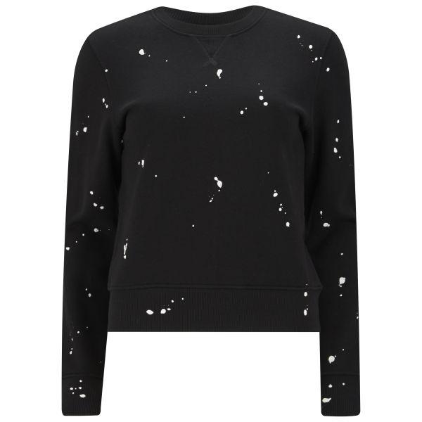 rag & bone Women's Splatter Paint Sweatshirt - Black