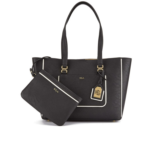 8325872568 Lauren Ralph Lauren Women s Dorset Shopper Bag - Black Vanilla  Image 1