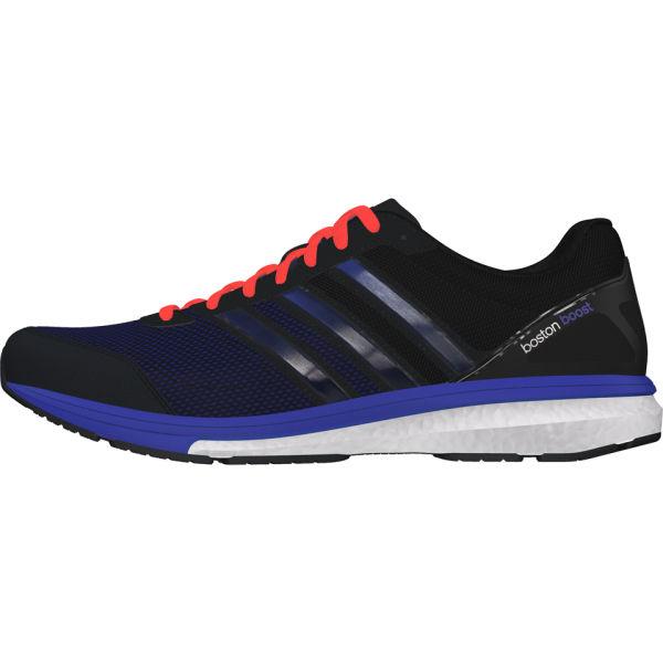 Adidas uomini adizero boston spinta 5 scarpe da corsa nero / viola