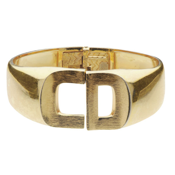 Susan Caplan Vintage Christian Dior Gold Plated Bangle