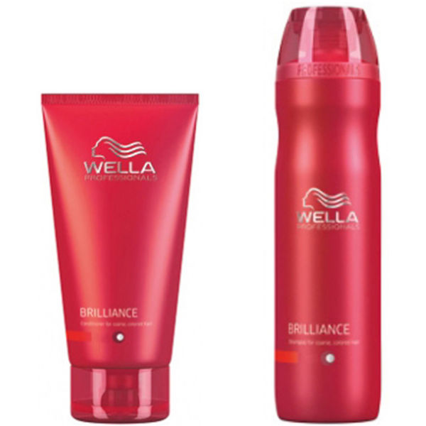 Wella Professionals Brilliance Duo for grovt farget hår - Shampoo og Conditioner