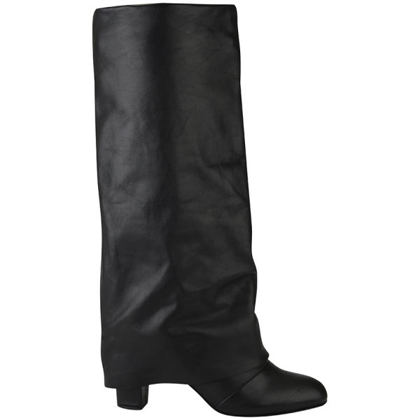 See By Chloé Women's Fold Over Leather Boots - Black