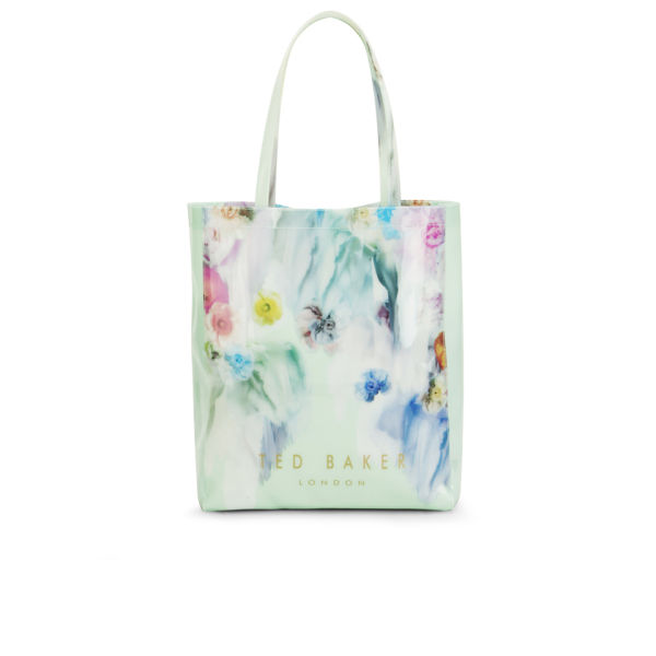 4af76ebe6f61a Ted Baker Zwecon Print Bow Plastic Large Tote Bag - Pale Green  Image 1