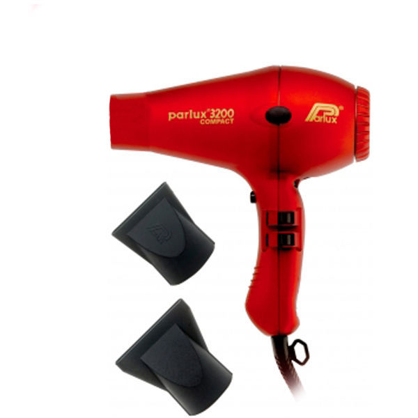 Parlux 3200 Compact Hair Dryer - Rød