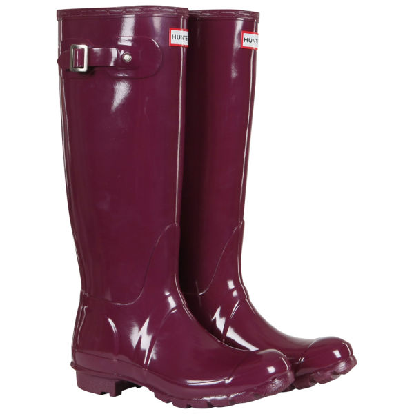 Hunter Women's Original Tall Gloss Wellies - Dark Ruby