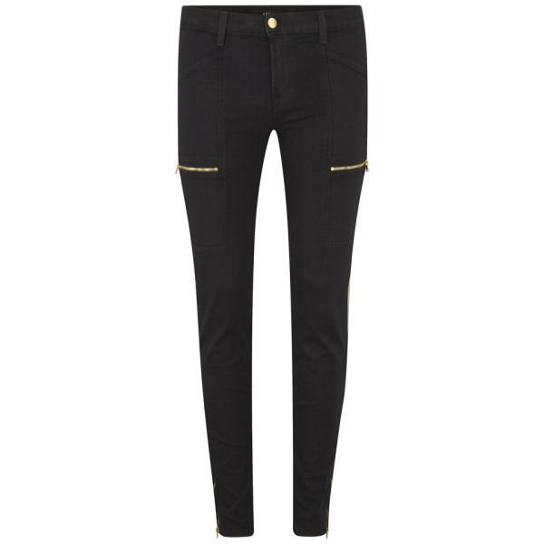 J Brand Women's Kassidy Skinny Photo Ready Cargo Trousers with Gold Zips - Vanity