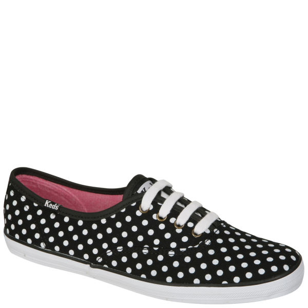 black and white polka dot keds