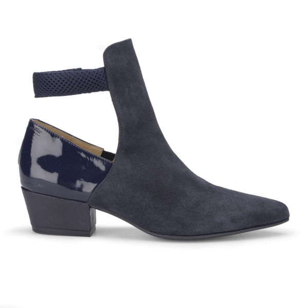 Wood Wood Women's Charlot Suede/Patent Leather/Mesh Ankle Boots - Navy