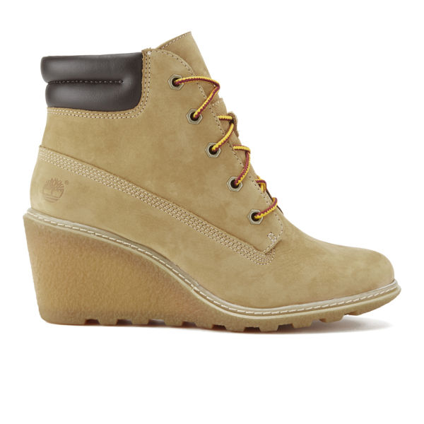 Timberland Women's Earthkeepers Amston Leather Wedged Lace Up Boots - Wheat
