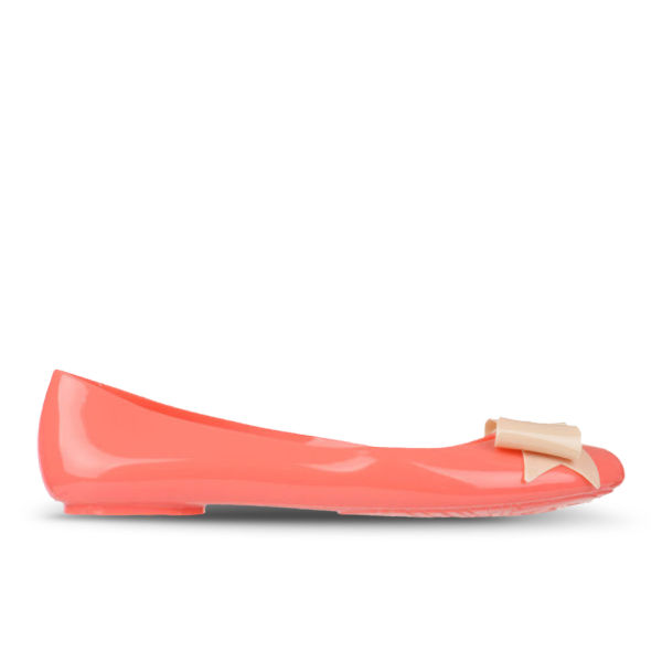 Love Sole Women's Bow Front Pumps - Coral