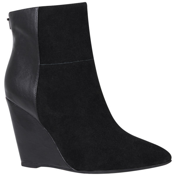 Ted Baker Women's Skovsa Suede Pointed Wedged Ankle Boots - Black