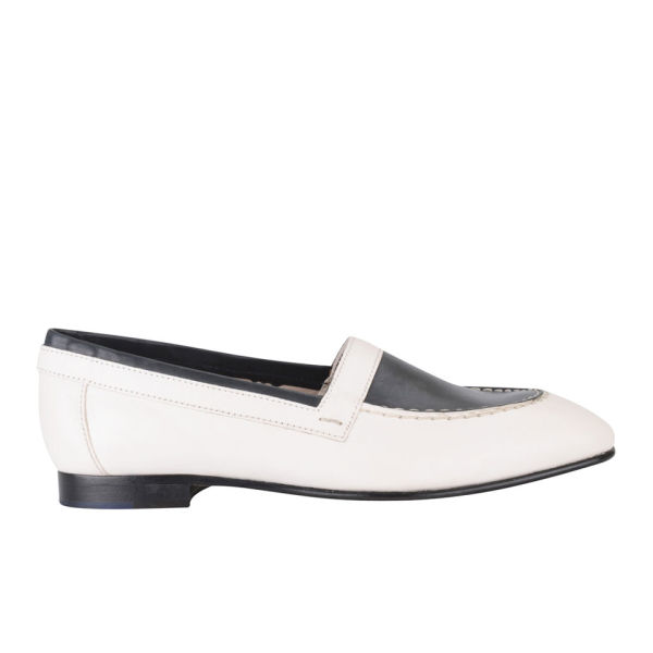 Paul Smith Shoes Women's Ray Leather Loafers - White/Dark Navy