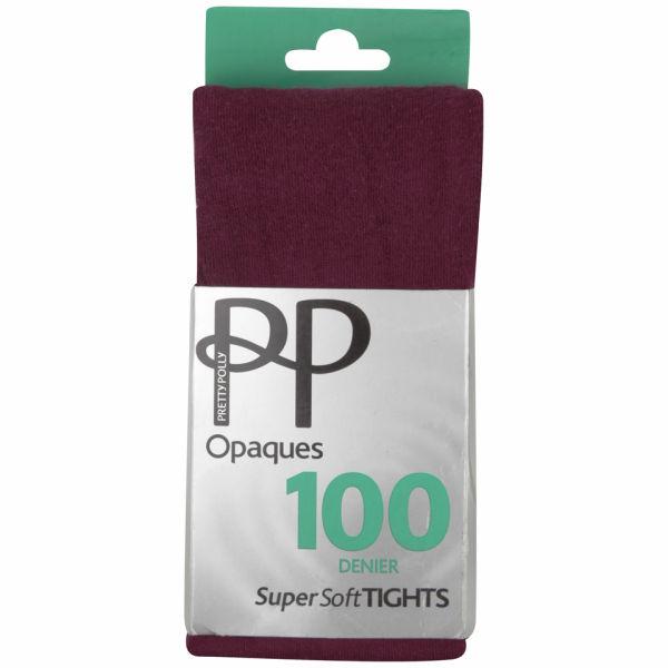 Pretty Polly Women's Soft Opaque Tights - Wine