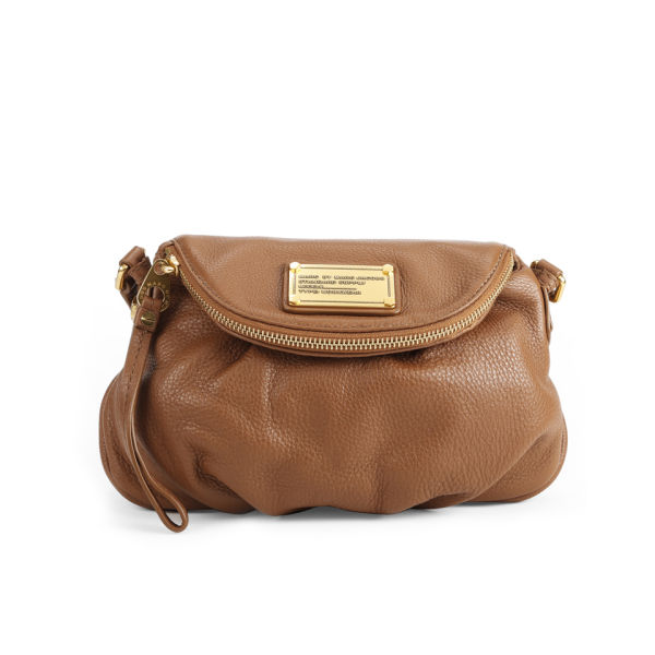 Marc by Marc Jacobs Classic Q Mini Natasha Leather Cross Body Bag - Smoked Almond