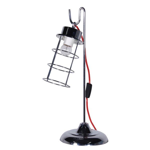 Chrome Cage Desk Lamp