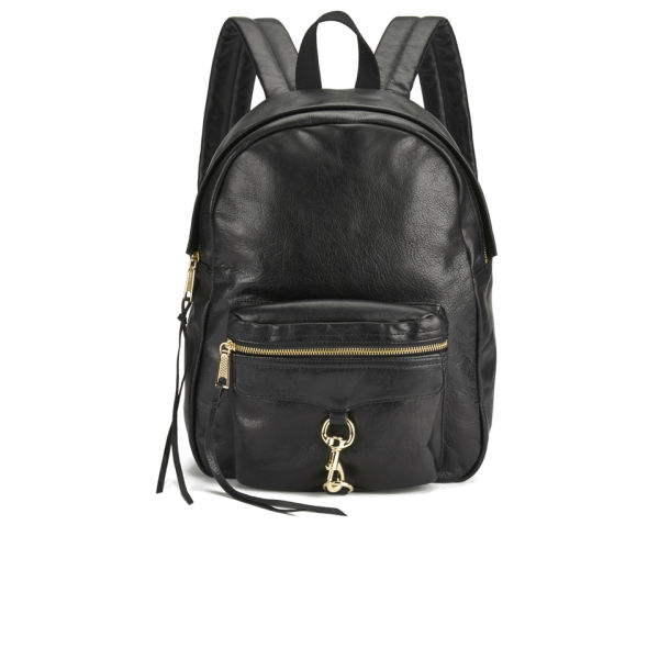 Rebecca Minkoff Women's M.A.B. Leather Backpack - Black - Free UK ...