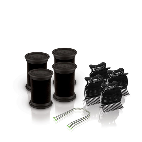 Diva Session Instant Heat 38mm Rollers, Clips & Pins Pack of 4