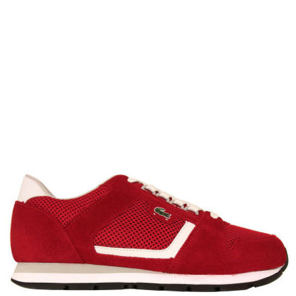 Lacoste Men's Cawston Trainers - White/Red/Grey