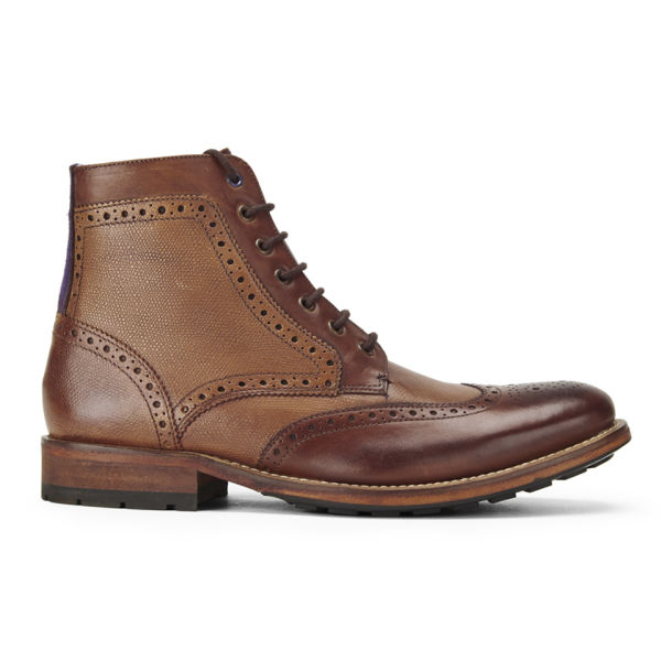 Ted Baker Men's Sealls 2 Leather Brogue Lace-Up Boots - Tan