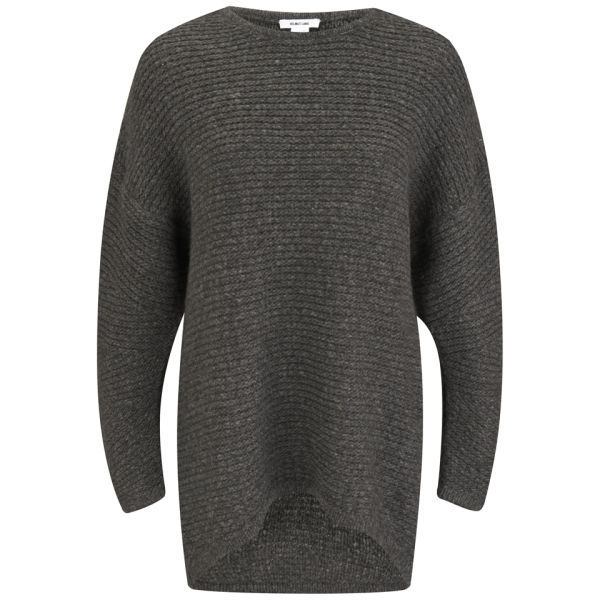 Helmut Lang Women's Soft Grid Knitted Jumper - Graphite