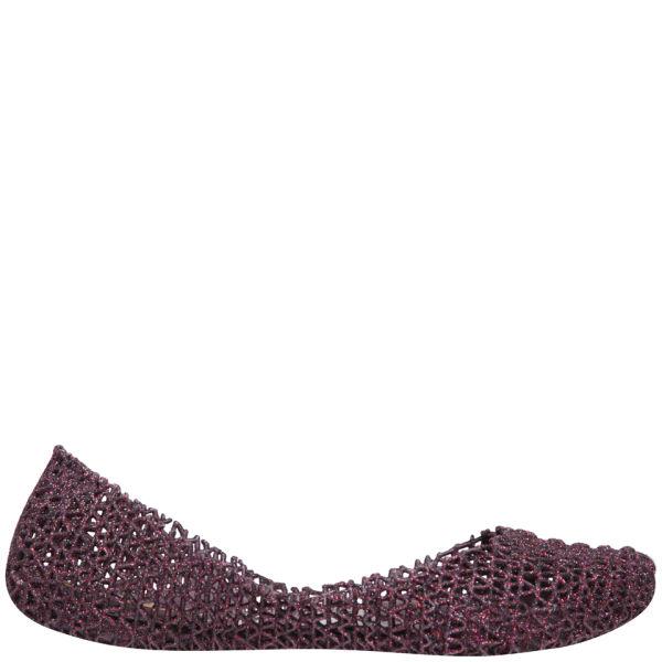 Melissa Women's Campana Papel Flats - Plum Glitter