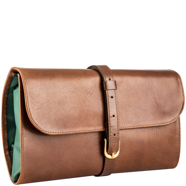 Daines Amp Hathaway Military Wet Pack Leather Wash Bag