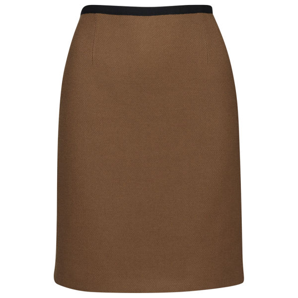 Orla Kiely Women's Wool Twill Skirt - Camel