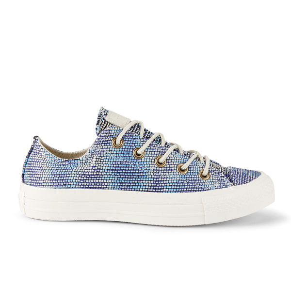 Converse Women's Chuck Taylor All Star Woven Multi Panel OX Trainers - Monte Blue