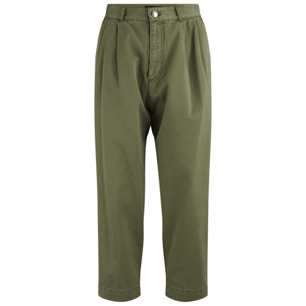 Marc by Marc Jacobs Women's Seamed Drape Trousers - Moore Green