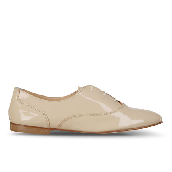 Just Ballerinas Women's Patent Lace-Up Shoes - Nude