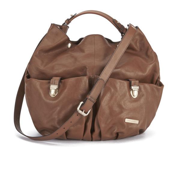 BOSS Orange Women's Sabyn Leather Slouch Bag - Medium Brown