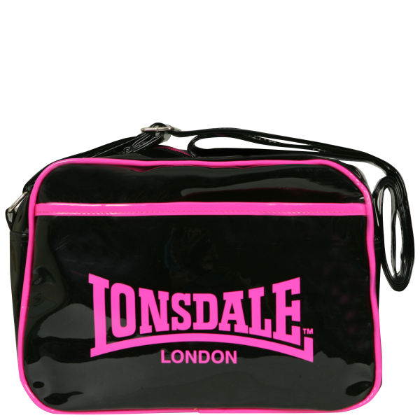 8fc79e63d04e Lonsdale East West Contrast Trim Messenger Bag - Pink Womens ...