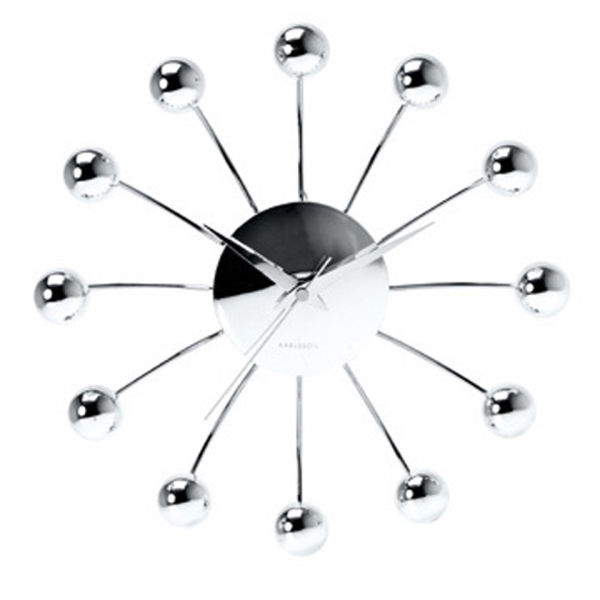 Karlsson Spider Wall Clock With Chrome Balls Buy Online