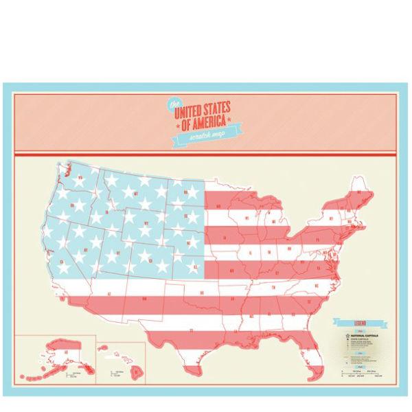 Scratch Map USA Edition IWOOT - Scratch us map