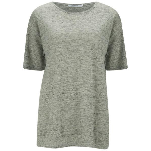 T by Alexander Wang Women's Heathered Oversized T-Shirt - Light Heather Grey