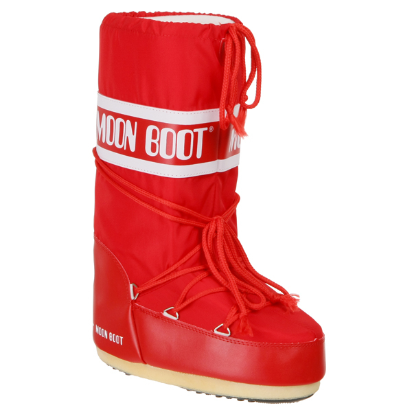 Moon Boot Women's Nylon Boots - Red