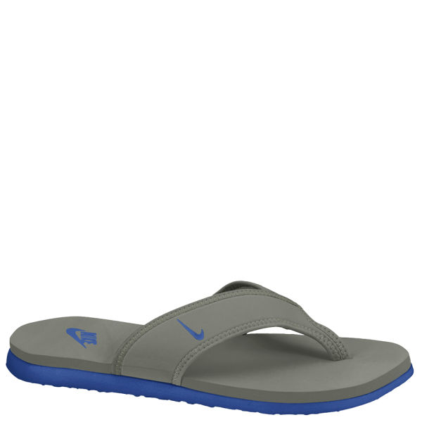 631007d5d75b Nike Men s Celso Thong Plus Flip Flops - Grey Blue Sports   Leisure ...
