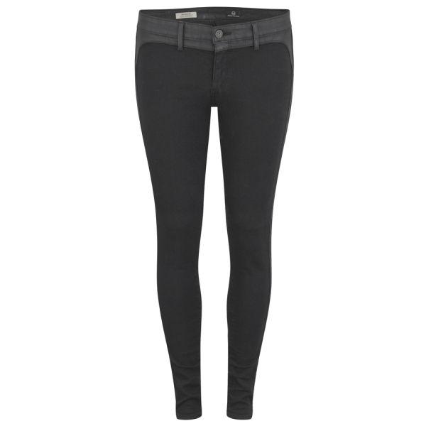 AG Jeans Women's Jackson Midnight Mid Rise Skinny Jeans - Black