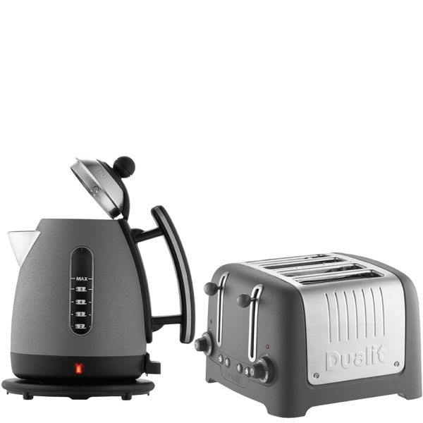 Dualit Jug Kettle and 4 Slot Toaster Bundle Granite Homeware